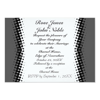 Penumbra Ivory (Smoke) Wedding Invitation