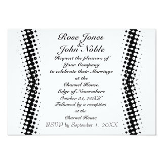 Penumbra Ivory (White) Wedding Invitation