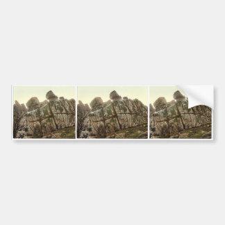 Penzance, Logan Rock, Cornwall, England classic Ph Bumper Stickers