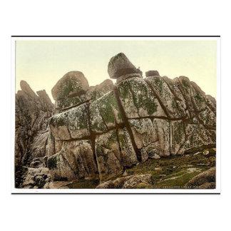 Penzance, Logan Rock, Cornwall, England classic Ph Post Card