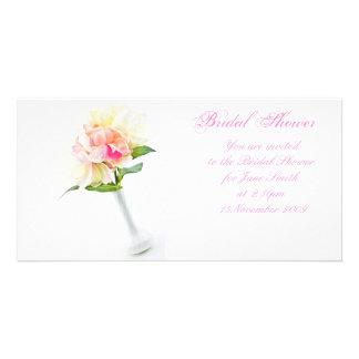 Peonie in Vase - Bridal Shower Invitation