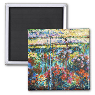 Peonies, 1887 Claude Monet cool, old, master 2 Inch Square Magnet