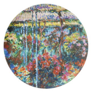 Peonies, 1887 Claude Monet cool, old, master Party Plates