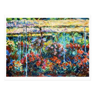 Peonies, 1887 Claude Monet cool, old, master Postcard