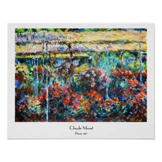 Peonies, 1887 Claude Monet cool, old, master Poster