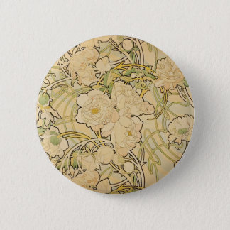 Peonies 1897 button