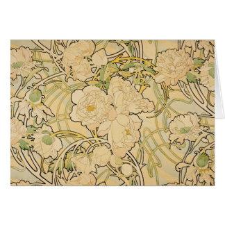 Peonies 1897 card