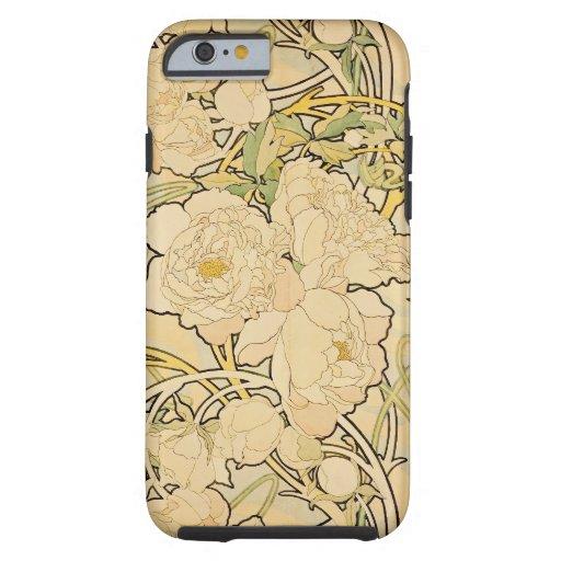Peonies 1897 funda de iPhone 6 tough