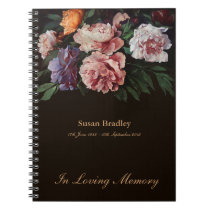 Peonies 1 Memorial or Funeral Guest Book
