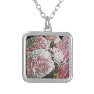Peonies 2010 silver plated necklace