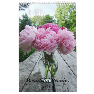 Peonies 2011 Calendar, Peony Flower Calendar