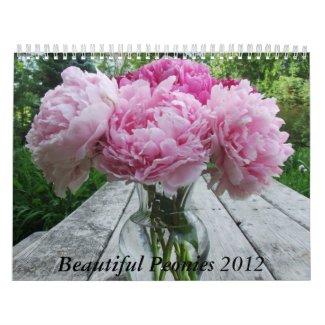 Peonies 2012 Floral Flower Calendar calendar