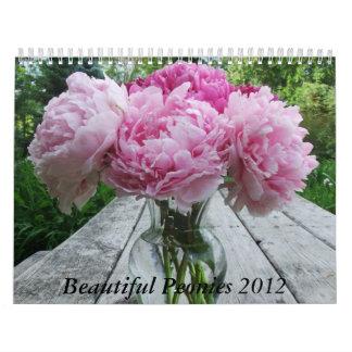 Peonies 2012 Floral Flower Calendar