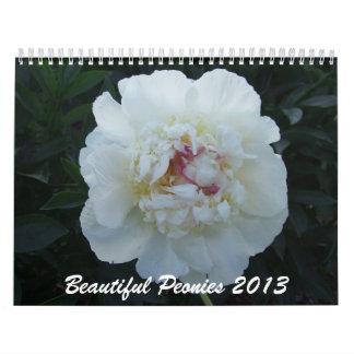 Peonies 2013 Flower Calendar