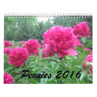 Peonies 2016 Calendar
