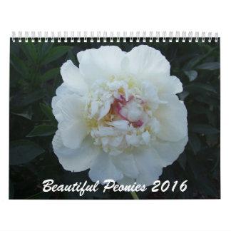 Peonies 2016 Flower Calendar