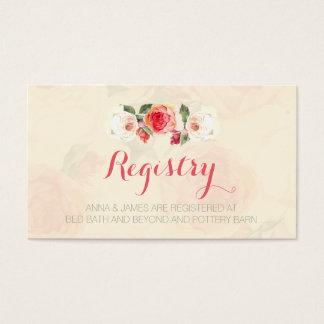 Peonies amelocotonados, tarjeta floral del tarjetas de visita