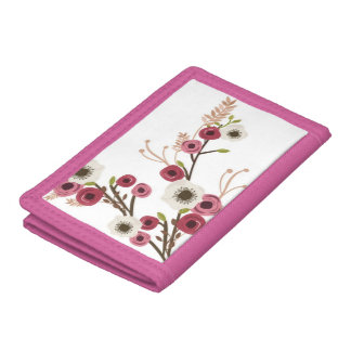 Peonies and anemones on a wallet