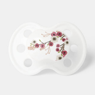 Peonies and anemones on pacifiers