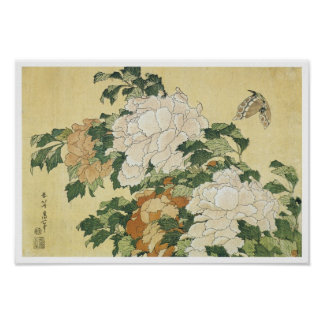 Peonies and Butterflu, 1833-34 Posters