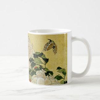 Peonies and Butterfly Coffee Mug