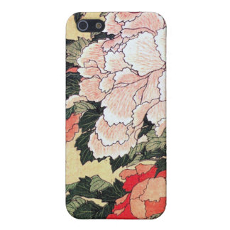 Peonies and Butterfly Hokusai iphone iPhone 5/5S Cases