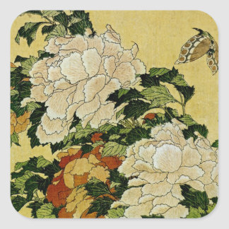Peonies and Butterfly Stickers