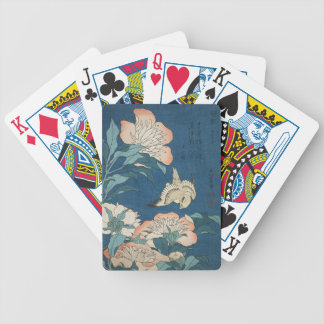 Peonies and Canary Playing Cards