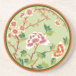 Peonies and Cherry Blossoms Coaster