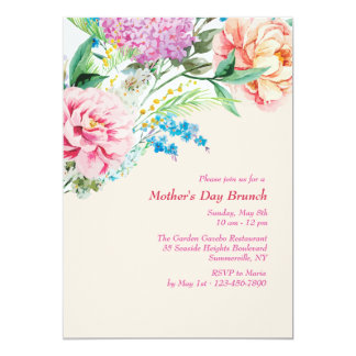 Peonies and Lilacs Invitation