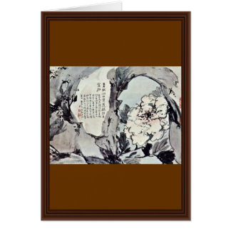 Peonies And Rocks By Kao Feng-Han (Best Quality) Card