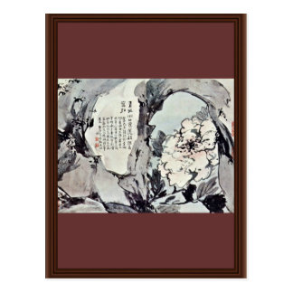 Peonies And Rocks By Kao Feng-Han (Best Quality) Post Card