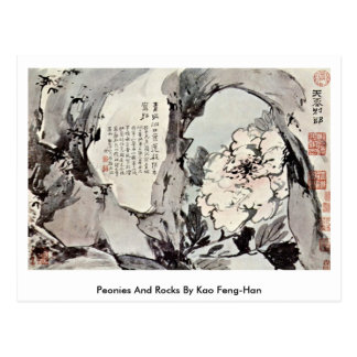 Peonies And Rocks By Kao Feng-Han Post Card