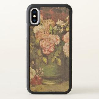 Peonies and Roses Vincent van Gogh GalleryHD Art iPhone X Case