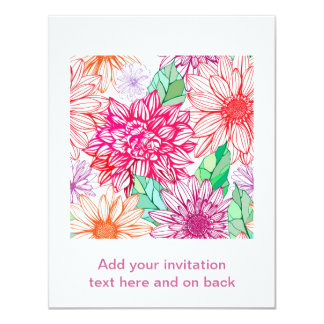 Peonies and Wildflowers Card