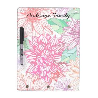 Peonies and Wildflowers Dry-Erase Board