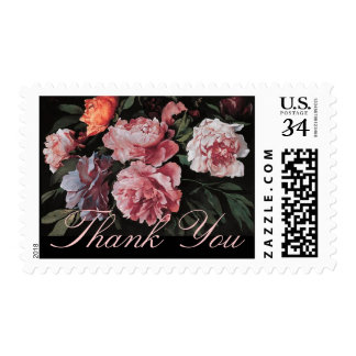 Peonies Anselm Feuerbach Sympathy Thank You Stamps