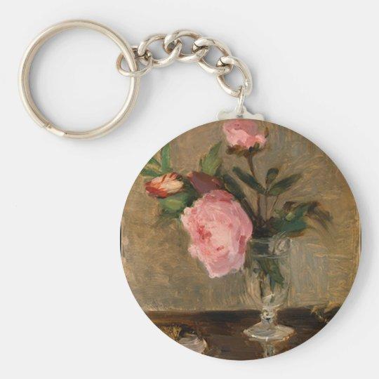 Peonies Berthe Morisot Fine Art Keychain
