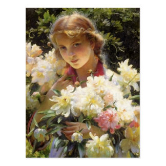 Peonies by Charles Courtney Curran Postcard