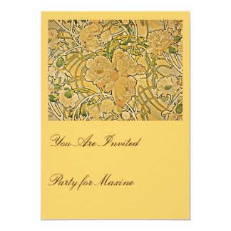 Peonies by Mucha Card