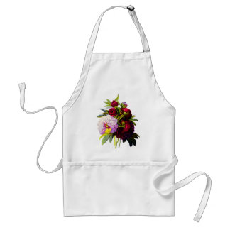 Peonies by Pierre Joseph Redoute Adult Apron