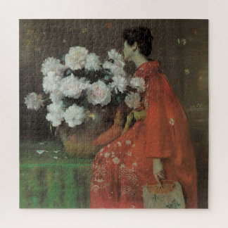 Peonies by William Merritt Chase, Vintage Fine Art Jigsaw Puzzle