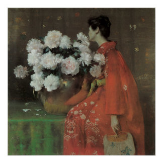 Peonies by William Merritt Chase, Vintage Fine Art Poster