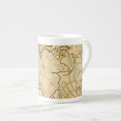 Peonies c1897 tea cup