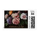 Peonies Celebration of Life Funeral Postage