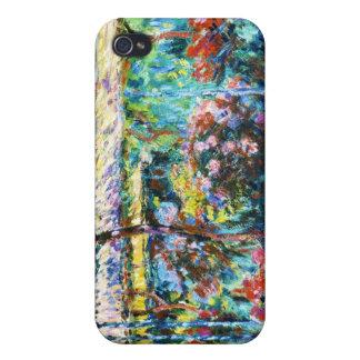 Peonies, Claude Monet 1887 fresco, viejos, amo iPhone 4 Cárcasas