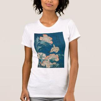 Peonies de Hokusai y GalleryHD amarillo Playera
