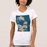 Peonies de Hokusai y GalleryHD amarillo Playeras