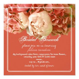 Peonies de PixDezines/hydrangeas coralinos/brunch Invitacion Personal