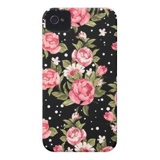 Peonies endebles rosados iPhone 4 carcasas